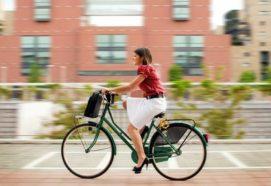 Поездка на работу на велосипеде